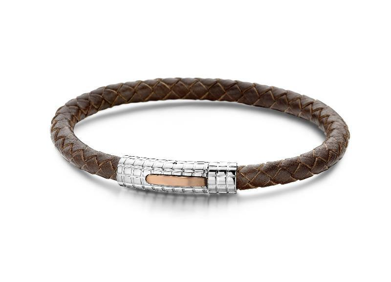 Bracelet Leather and Stainless Steel - The Gallant Way