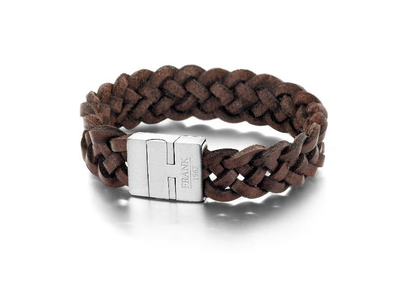 Men's Bracelet Braided Leather & Steel - The Gallant Way