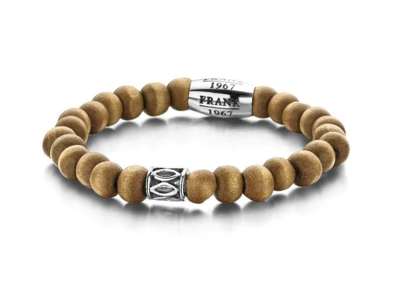 Bracelet Beaded Wooden & Steel - The Gallant Way