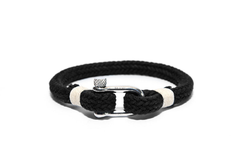 Men's Unique Nautical Bracelet Black -The Gallant Way