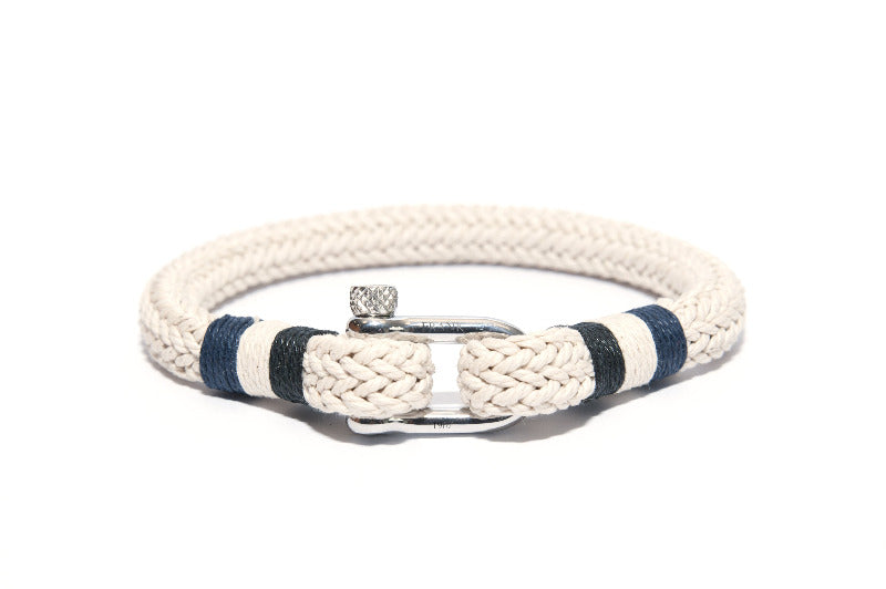 Men's Unique Nautical Bracelet White - The Gallant Way