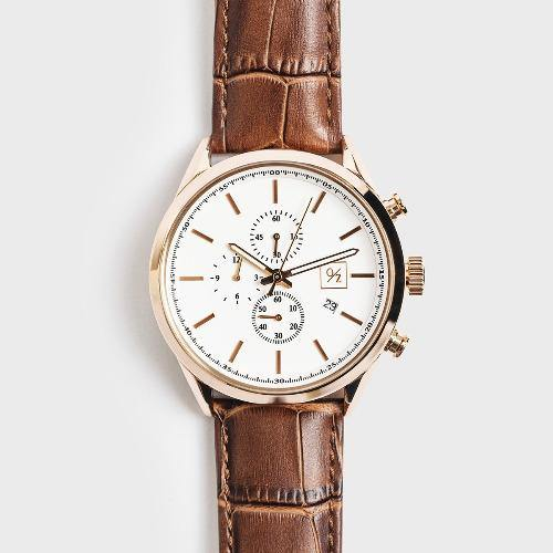 Men's Luxury  Leather Chronograph Watch