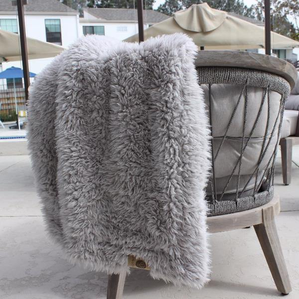 Soft Throw Blanket Silver 4