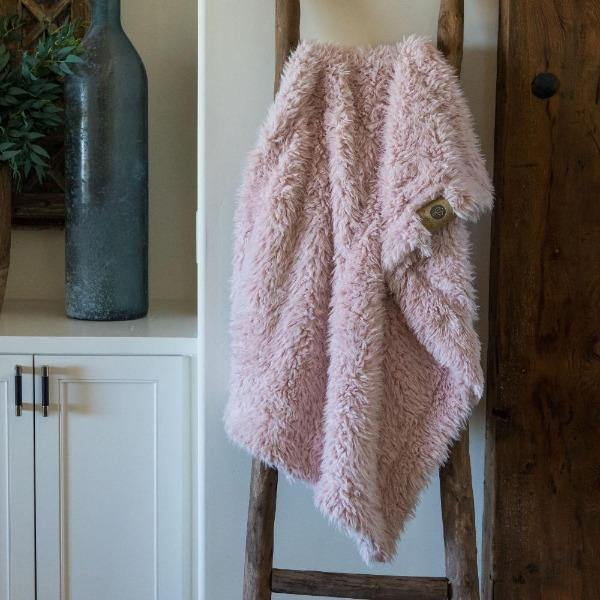 Dusty Pink Throw Blanket 3