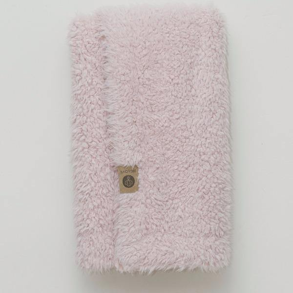 Dusty Pink Throw Blanket 2