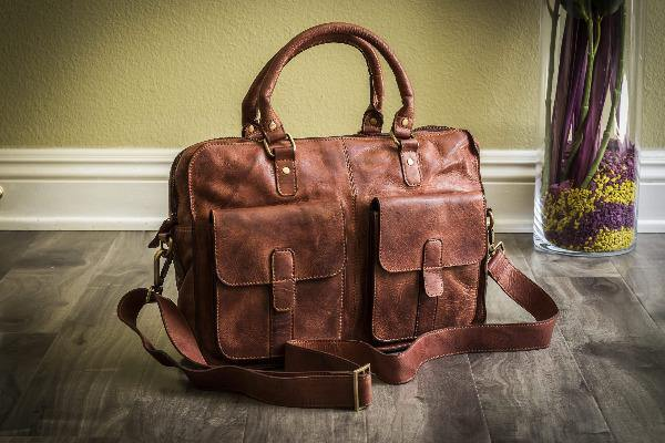 Men's Leather Briefcase - Commuter 6