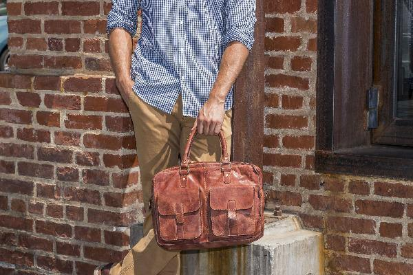 Men's Leather Briefcase - Commuter 7