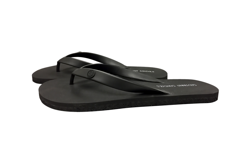 Men's Black Shower Sandals - The Gallant Way