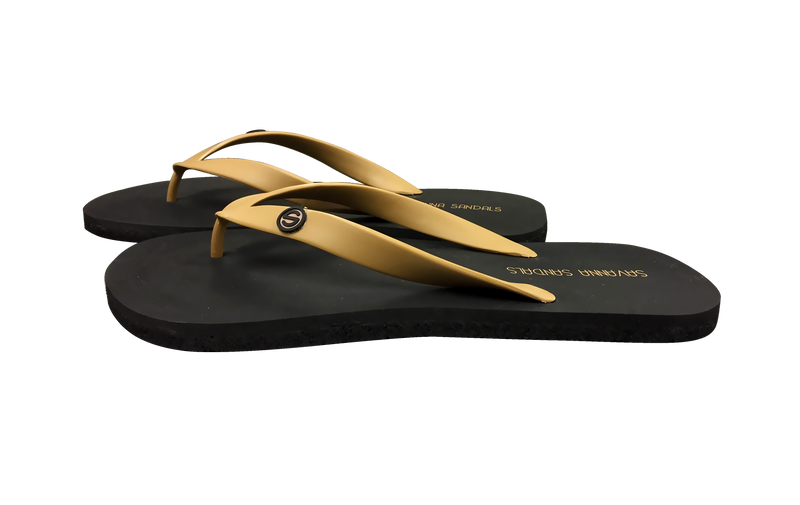 Men's Tan Shower Sandals - The Gallant Way