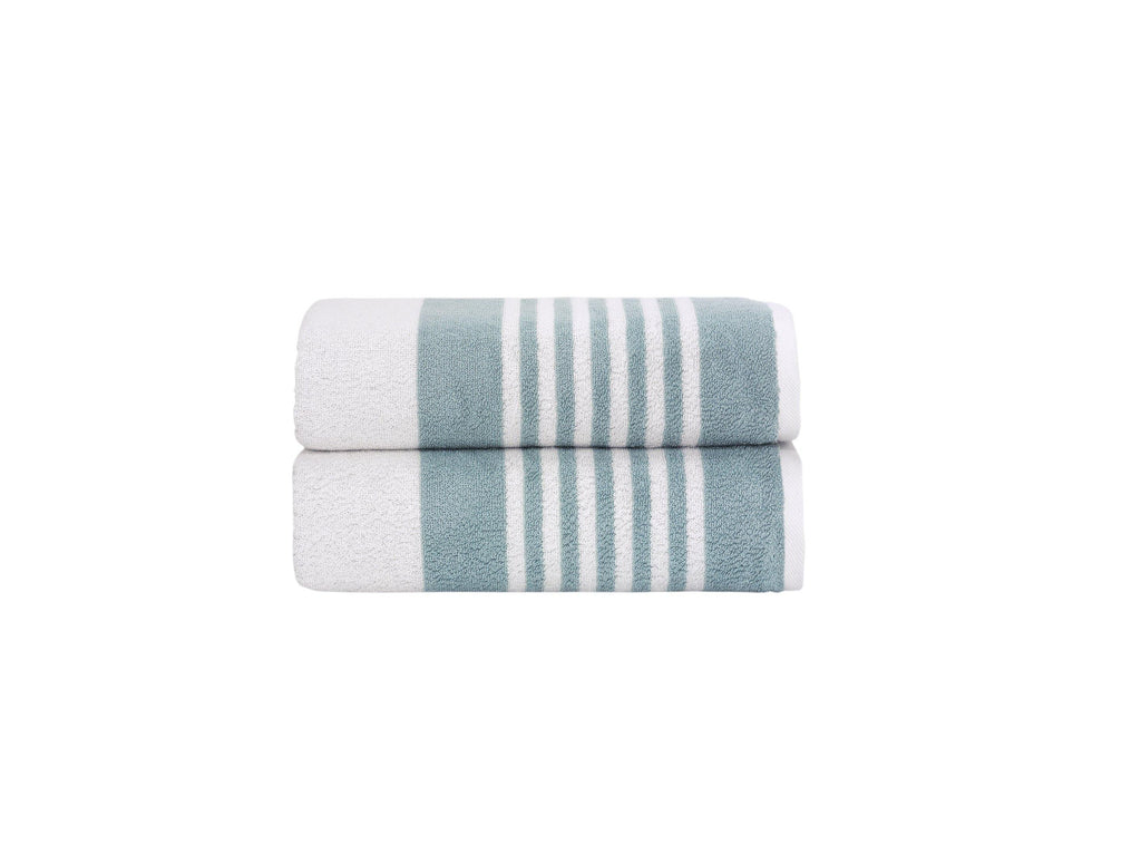 Bath Towels Set - Mykonos Collection 2 pcs - The Gallant Way