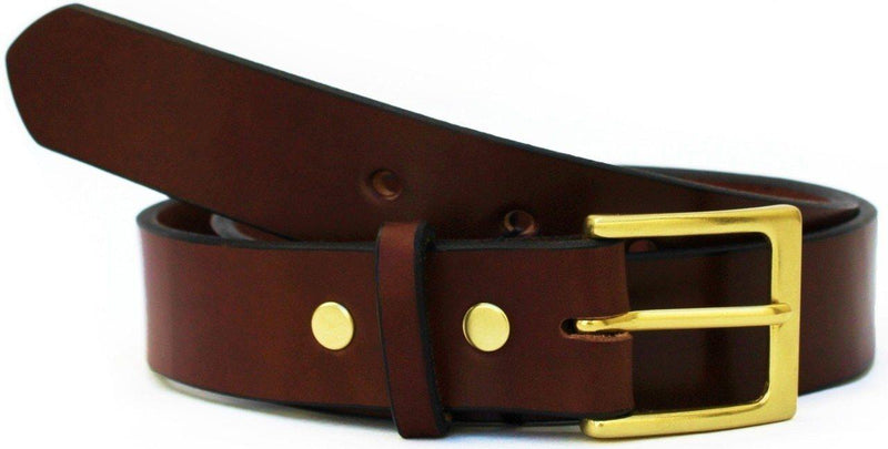 Everyday Belt - Brown with Gold Hardware - The Gallant Way