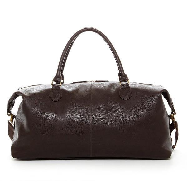 Men's Leather Duffle Bag - Gunner Brown 6