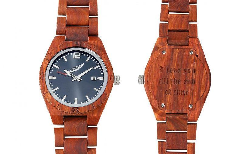 Men's Wood Watch Rose - Engrave it