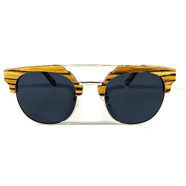 Men's Halfrounded Wooden Sunglasses -Edgewood 2