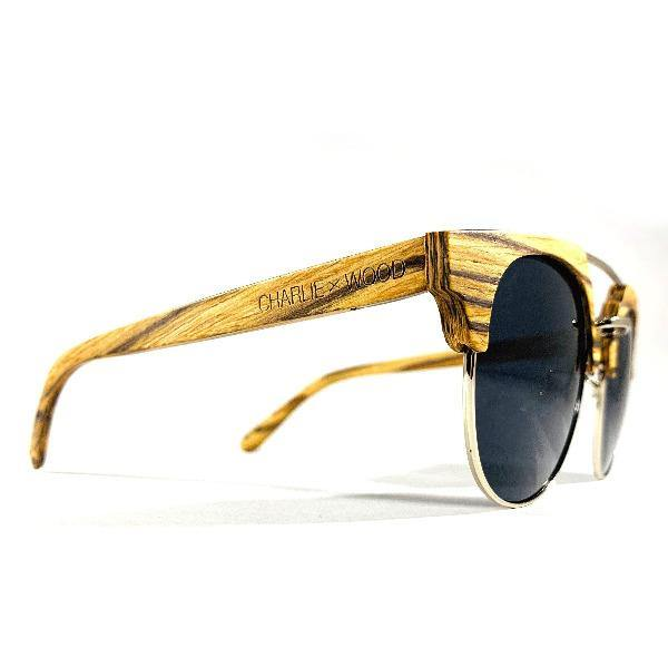Men's Halfrounded Wooden Sunglasses -Edgewood 1