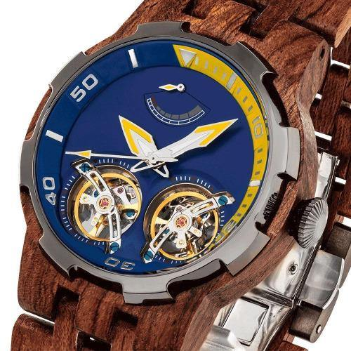 Men's Wood Watch Dual Wheel Automatic Kosso 2