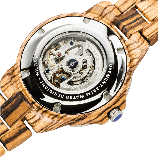 Men's Wooden Watches Automatic Zebra 2