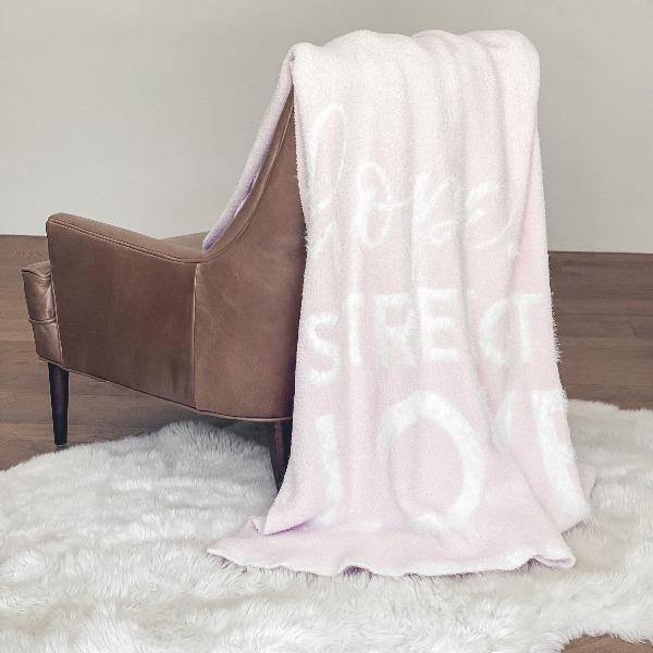Pink Throw Blanket - DREAM 2