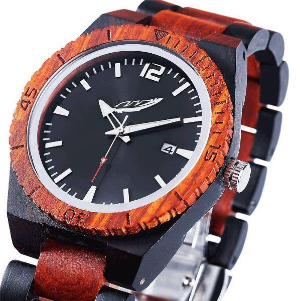 Men's Wood Watch Ebony & Rosewood