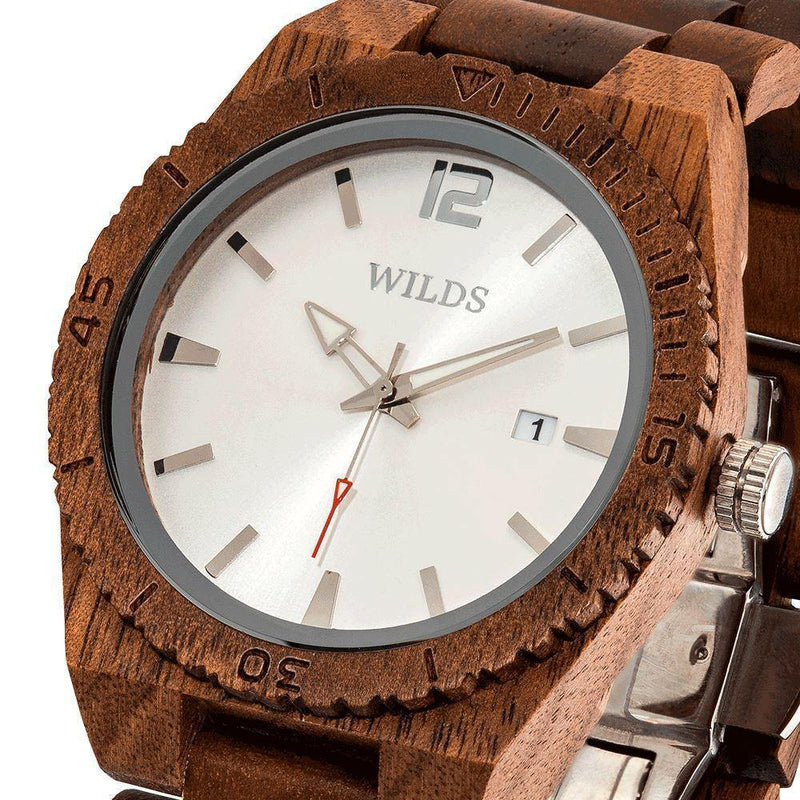 Men's Wooden Watch Custom Engrave Walnut  2