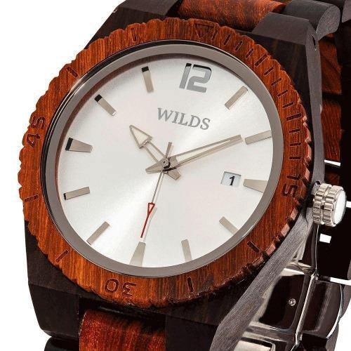 Men's Wood Watch Ebony & Rose Wooden Watch   5