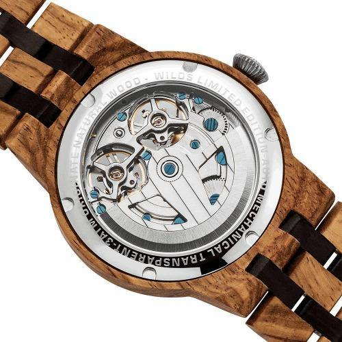 Men's Wooden Watch Dual Wheel Automatic Ambila 4