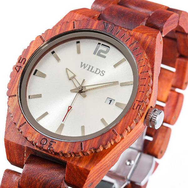 Women's Wooden Watch Natural Maple & Rosewood   2