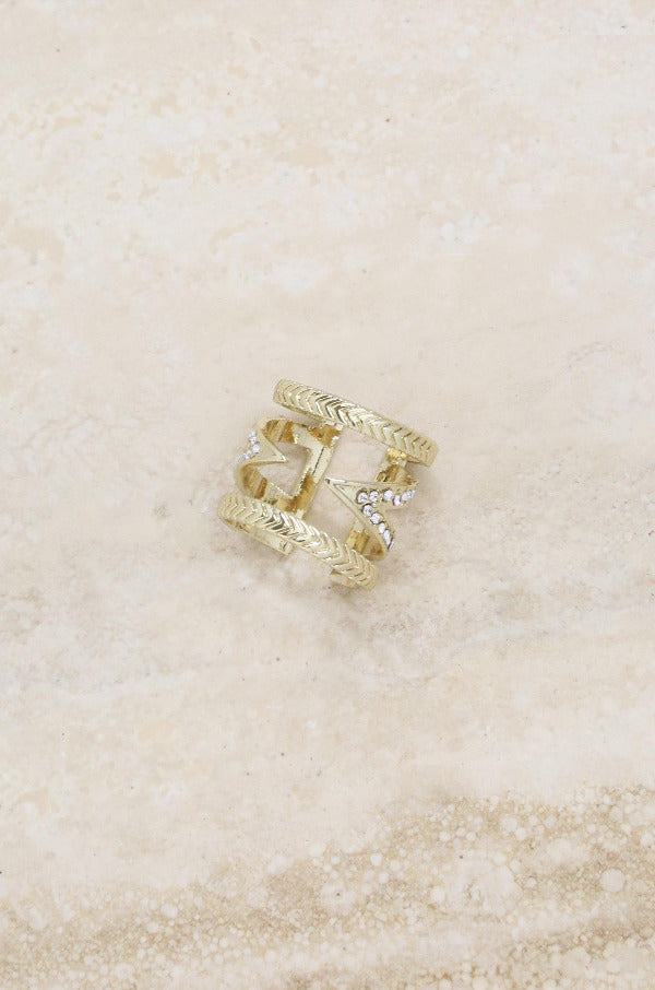 Break The Pattern 18k Gold Plated Ring