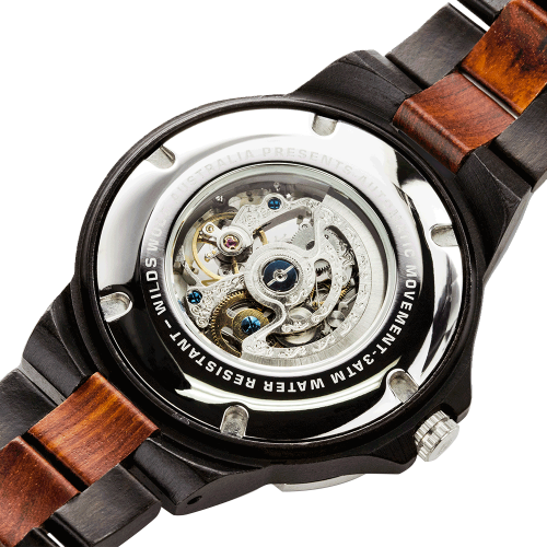 Men's Wooden Watch  Automatic Rose Ebony 3