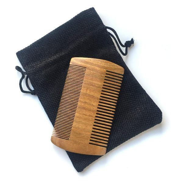 Beard Comb - Natural Sandalwood 1