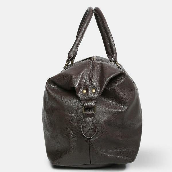 Men's Leather Duffle Bag - Gunner Brown 5