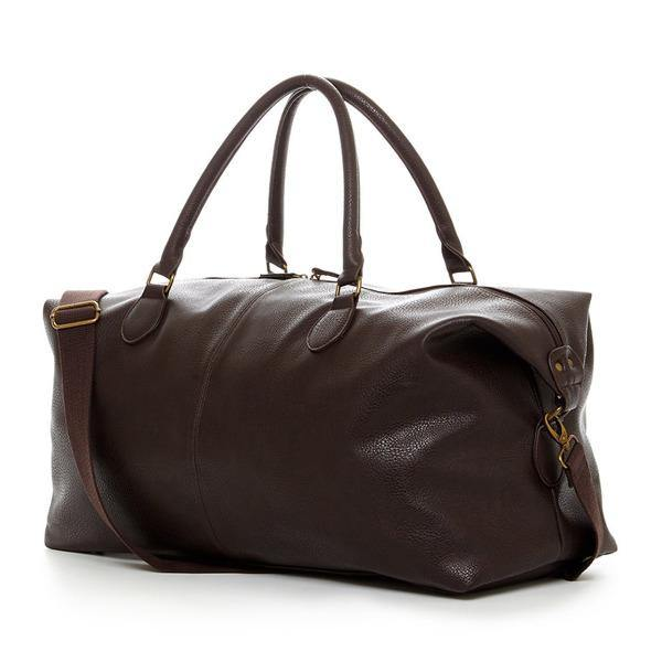Men's Leather Duffle Bag - Gunner Brown 8
