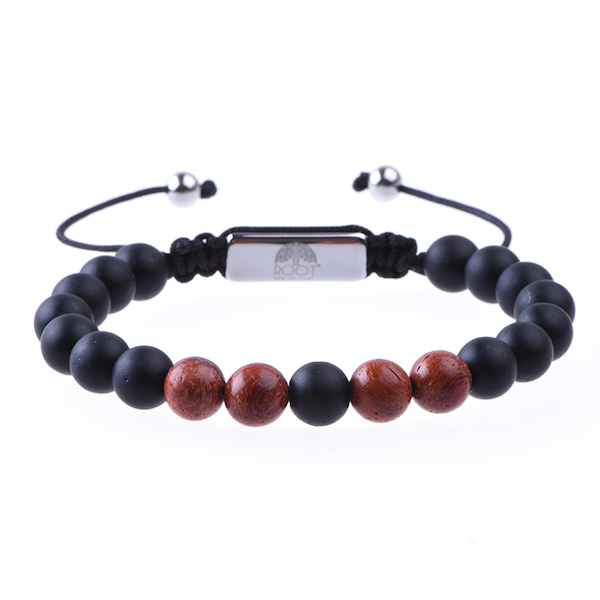 Men´s Beaded Bracelet Rosewood