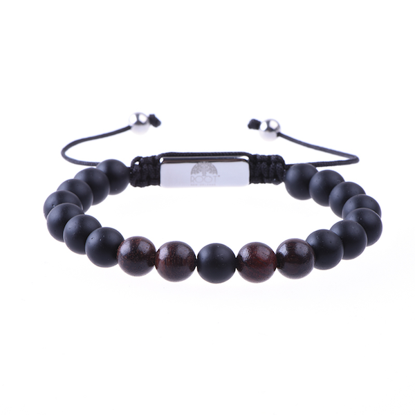 Men´s Beaded Bracelet Ebony