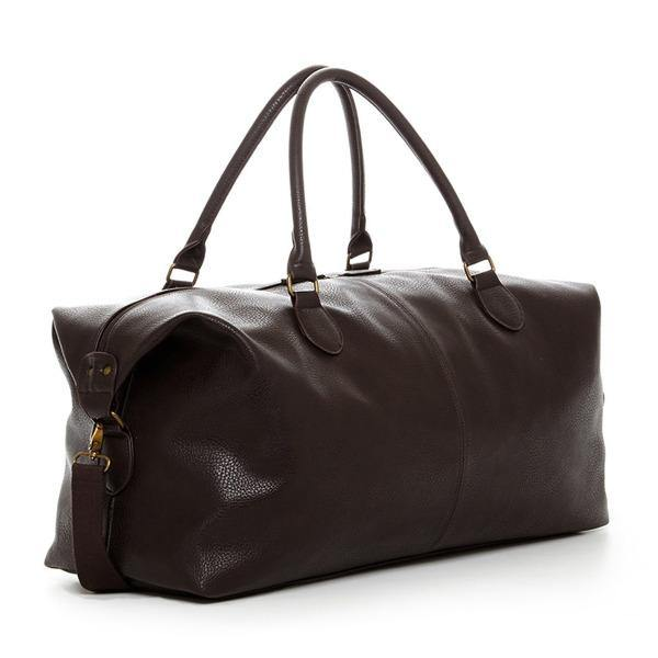 Men's Leather Duffle Bag - Gunner Brown 1