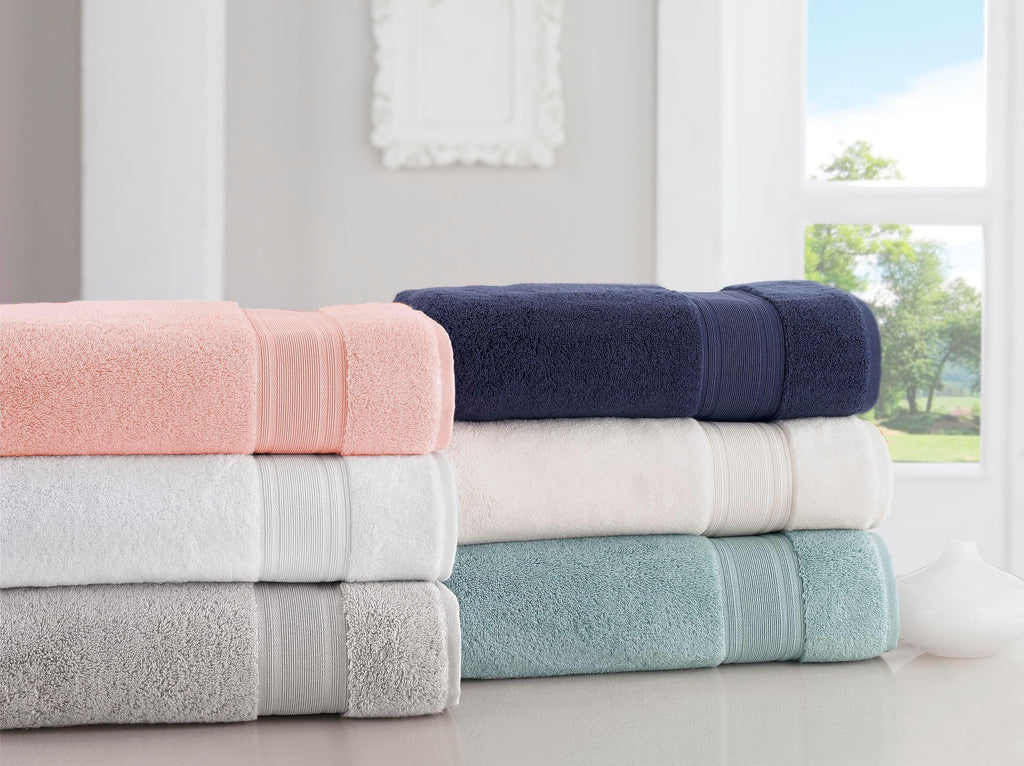 Light Turquoise Bath Towels Set - Diamond Collection 6 Pcs - The Gallant Way