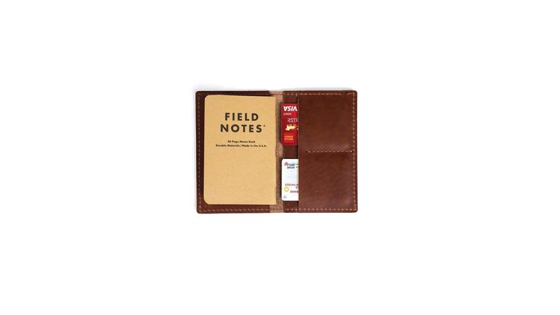 Leather Memo Notebook Wallet - The Gallant Way