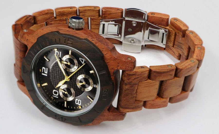 Men's Wooden Watch Multi-Function Custom Kosso 2