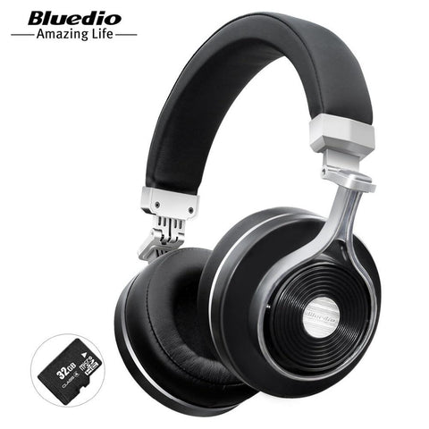 Bluedio T3 Plus wireless Bluetooth headphones with microphone SD card slot music original bluetooth headset phone accessory