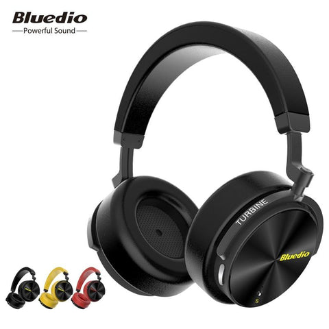 Bluedio T5S Active Noise Cancelling headphone wireless bluetooth over-ear headphones/headsets with microphone for music phones