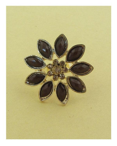 Flower adjustable ring - dress4less.com