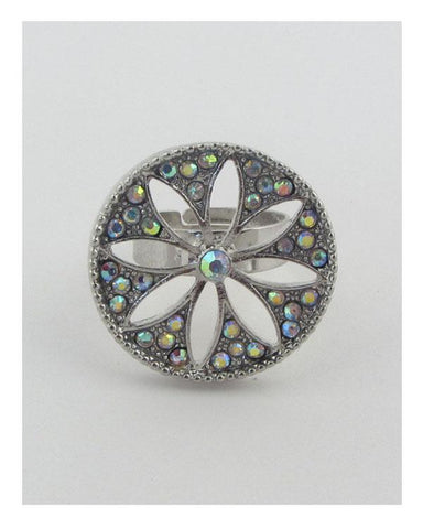 Adjustable cut out flower ring - dress4less.com