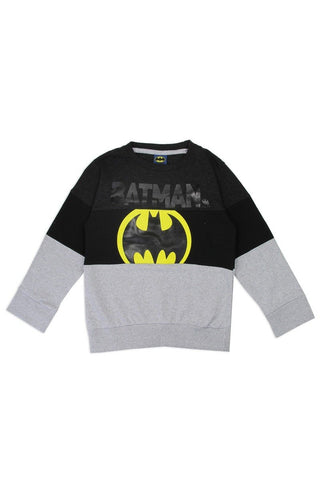 Boys batman 4-7 color block sweatshirt - dress4less.com