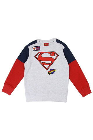 Boys superman 4-7 sweatshirt - dress4less.com
