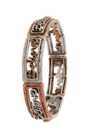 """believe"" stretch bracelet - dress4less.com"