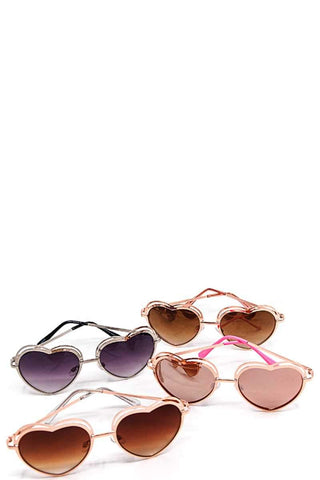Modern Heart Princess Sunglasses - dress4less.com