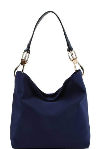 Chic Fashion Durable Canvas Fabric Hobo Bag - dress4less.com