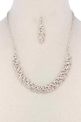 Rhinestone Necklace - dress4less.com