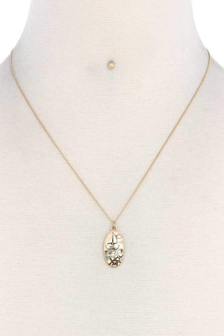 Boat Oval Shape Necklace - dress4less.com