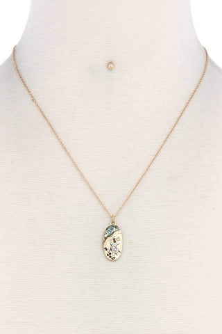 Sea Turtle Oval Shape Necklace - dress4less.com